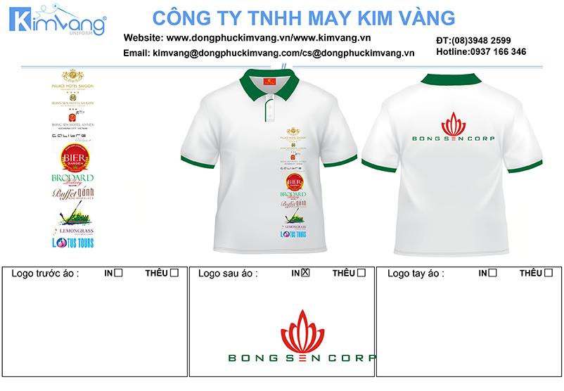 dong phuc ao thun cong so bong sen