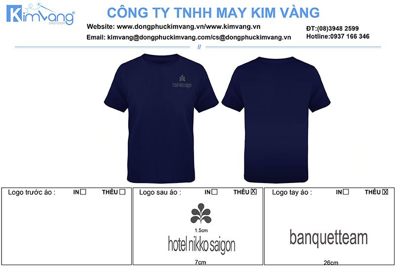may ao thun dong phuc khach san Nikko 1