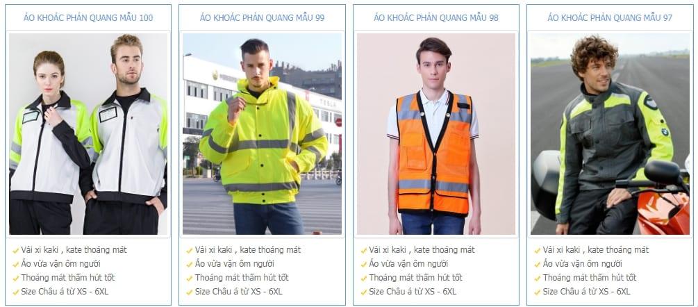 Thiết kế áo khoác phản quang cho công ty