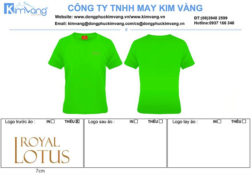 ao thun cong so Resorts Royal Lotus